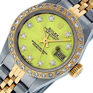 Rolex Ladies Datejust Ss/Yellow Gold with Yellow Diamond Dial Watch
