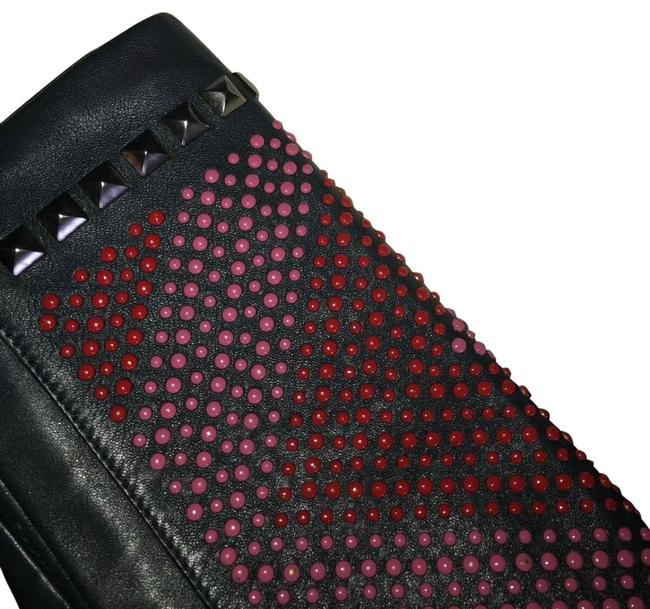 Item - Pierre Studded Fold-over Navy Leather Clutch