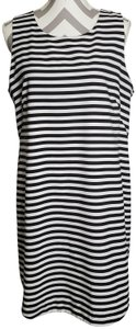 Cupio short dress Black & White Sleeveless Lined Popover Striped on Tradesy