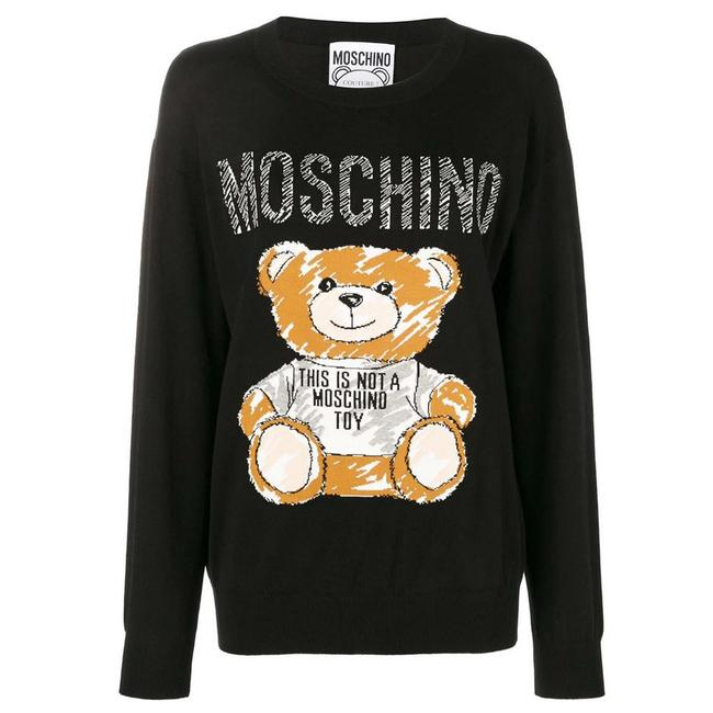 Item - Brushstroke Teddy Bear Black Sweater