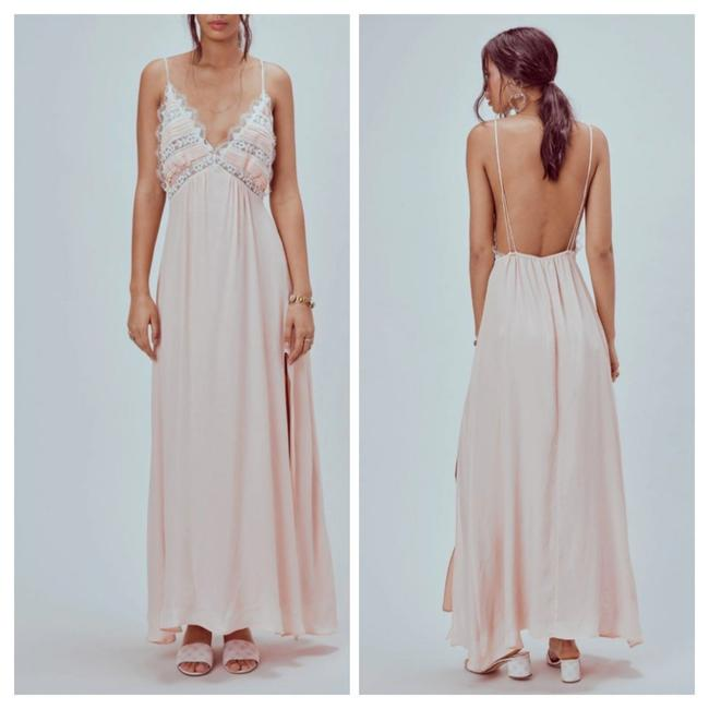 Item - Soft Pink And Bird Long Casual Maxi Dress Size 10 (M)
