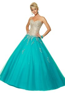 Mori Lee Ball Gown Beaded Prom Dress
