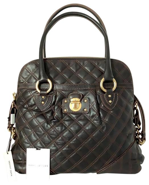 Item - Margot Quilted Made In Italy Triffle / Dark Brown Leather Satchel