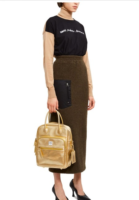 Item - Metallic Travel Gold All Leather Tote