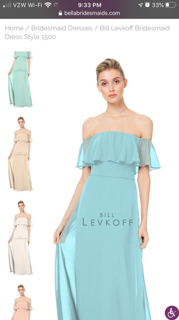 Item - Glacier Chiffon Style 1500- (Never Worn Never Altered) Formal Bridesmaid/Mob Dress Size 10 (M)