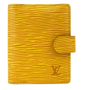 Louis Vuitton LOUIS VUITTON Agenda Mini Day Planner Epi Leather Yellow