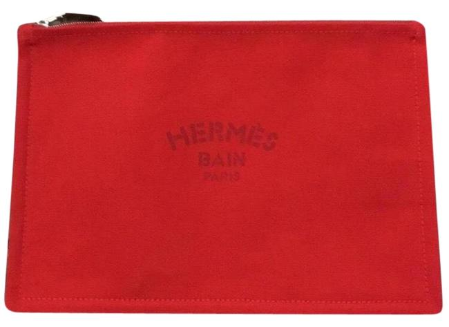 Item - Yachting Pouch Red Cotton Clutch