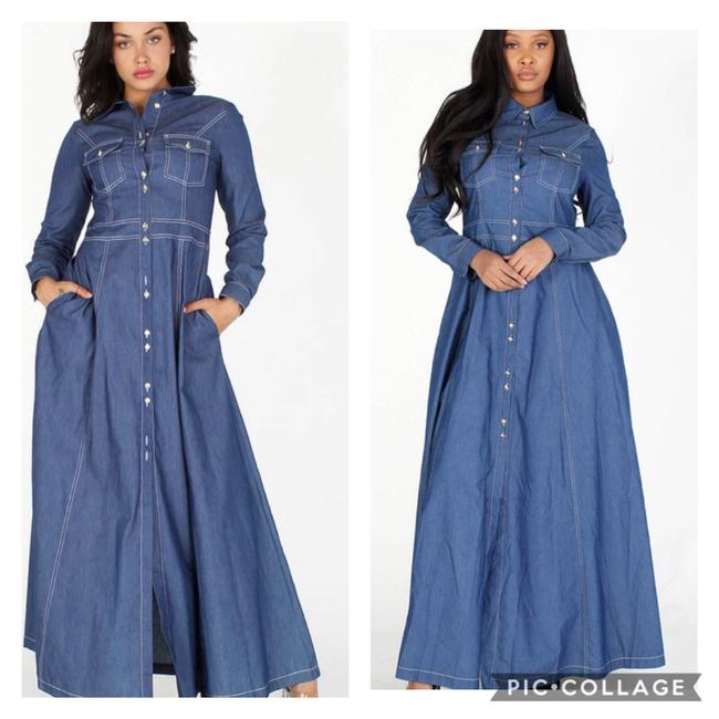 Item - Denim Long Casual Maxi Dress Size 4 (S)