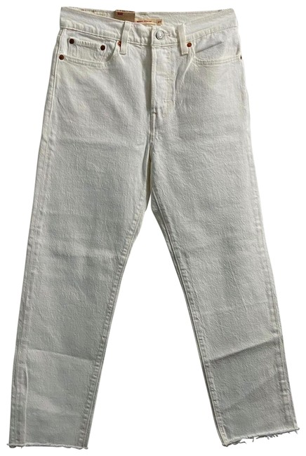 Item - White Wedgie Fit Straight Leg Jeans Size 4 (S, 27)