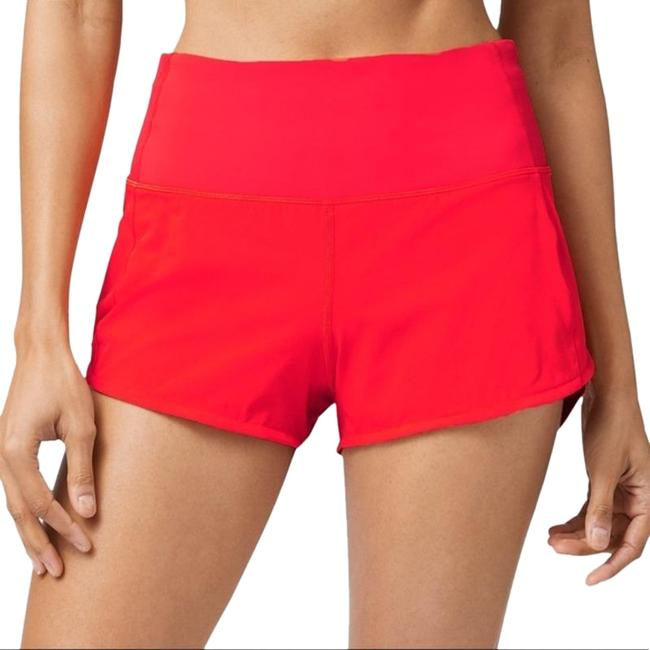 """Item - Carnation Red High Rise Running Speed Line 4"""" Inseam Activewear Bottoms Size 2 (XS, 26)"""