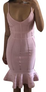Neiman Marcus Bandage Bandagedress Lightpink Fitted Dress