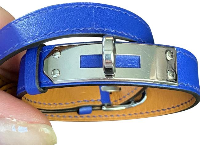 Item - Bright Royal Blue with Silver Hardware Kelly Double Tour Bracelet