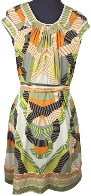 Item - Multicolor Patterned Short Casual Dress Size 4 (S)