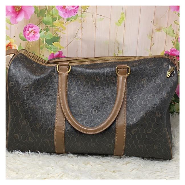 Item - Grey and Brown Leather Weekend/Travel Bag