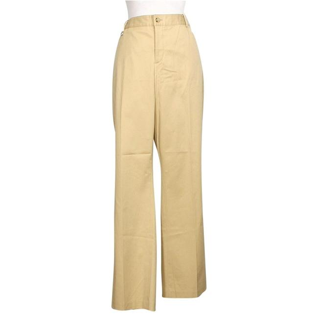 Item - Tan Stretch Cotton Twill Slimming Fit Logo Tab 22w Pants Size 22 (Plus 2x)