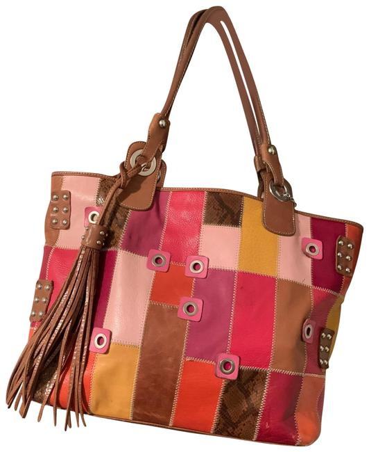 Item - Patchwork Multi Color Leather Tote
