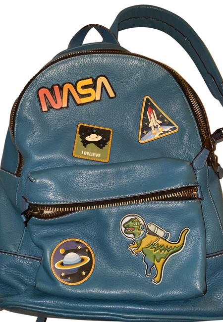 Item - Nasa & Space Turquoise Leather Backpack