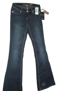 7 For All Mankind Wash Soft Premium Denim Boot Cut Jeans-Dark Rinse