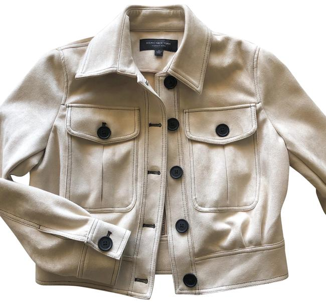 Item - Beige Suede Texture Jacket*nwt Jacket Size 6 (S)