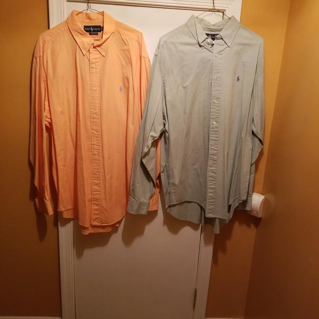 Item - Orange and Green Oxford Button-down Top Size 20 (Plus 1x)