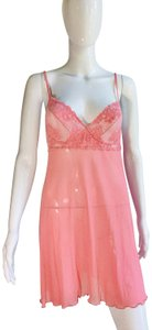 Cosabella short dress Pink Floral Lace Slip Mesh A-line on Tradesy