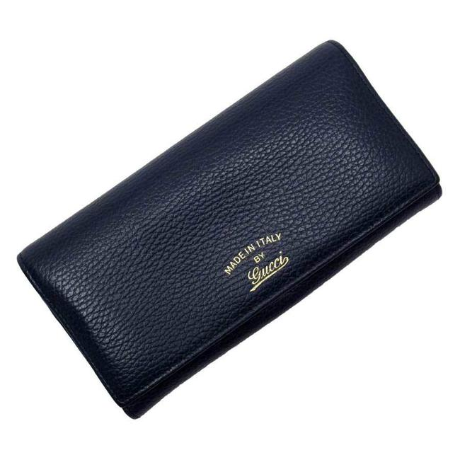 Item - Blue / Gold / Navy Swing Short Bi-fold Continental Leather Womens Mens Wallet