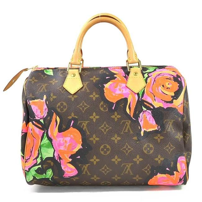 Item - Speedy Handbag Rose 30 Canvas Ladies M48610 I0370 Brown / Multi-color Monogram Satchel