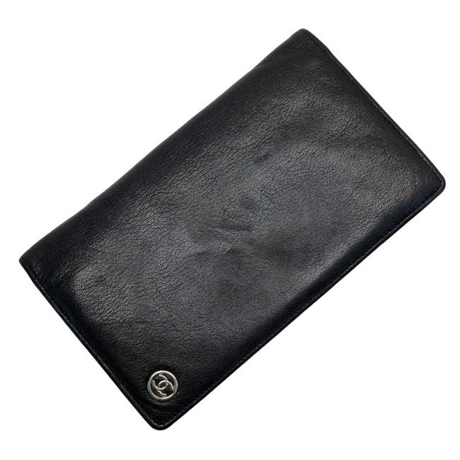 Item - Black / Silver Bifold Coco Mark Leather Ladies Wallet