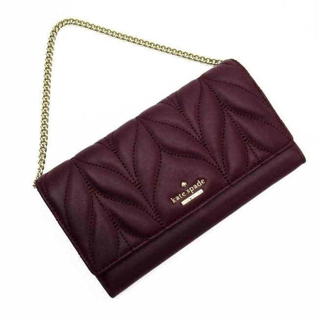Item - Gold / Purple Chain Leather Ladies Wallet