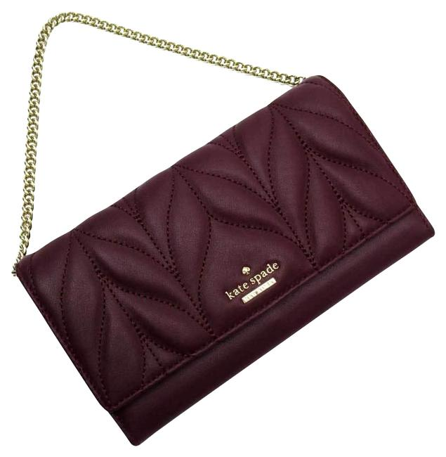 Kate Spade Gold / Purple Chain Leather Ladies Wallet Kate Spade Gold / Purple Chain Leather Ladies Wallet Image 1