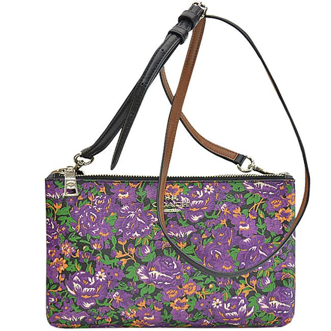 Item - Shoulder Ladies R7717a Black / Green / Orange / Purple Leather Clutch