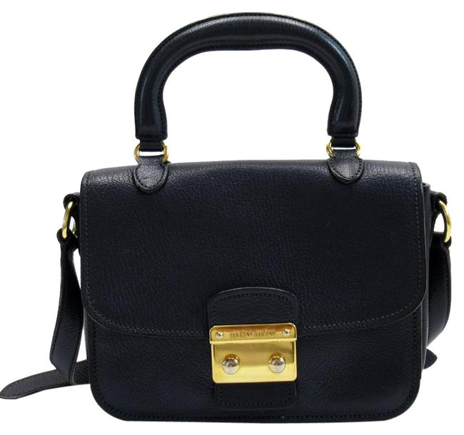 Item - H22601 Gold / Navy Leather Satchel