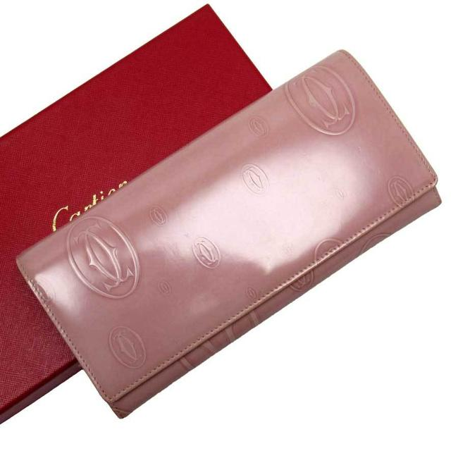 Cartier Pink Happy Birthday Patent Leather Ladies Wallet Cartier Pink Happy Birthday Patent Leather Ladies Wallet Image 1