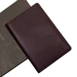 Louis Vuitton Louis Vuitton Passport Case Cover Nomad Couverteur Dark Brown Leather Ladies Men h23447a
