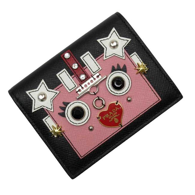 Item - Black / Pink / White Bi-fold Silver Gold Saffiano Leather Ladies Wallet