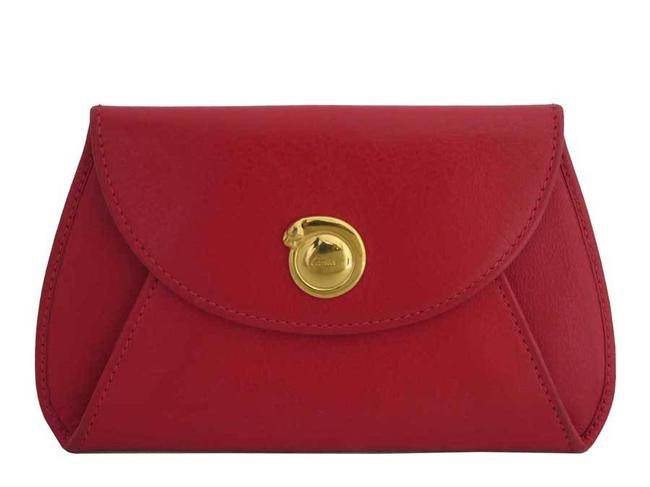 Item - Red Color Coin Case Pantail Leather Purse Pouch Ladies Wallet