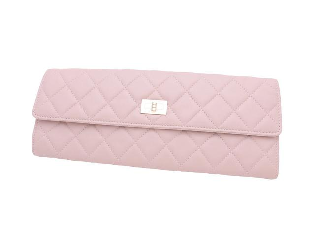Item - 2.55 Reissue Accessory Pouch Matelasse Jewelry Case Light Pink Leather Clutch