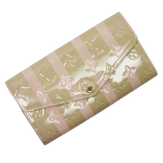 Item - Beige / Gold / Pink Verni Rayuille Portofeuil-sarah Poppy Petal Patent Leather Ladies M58039 Wallet