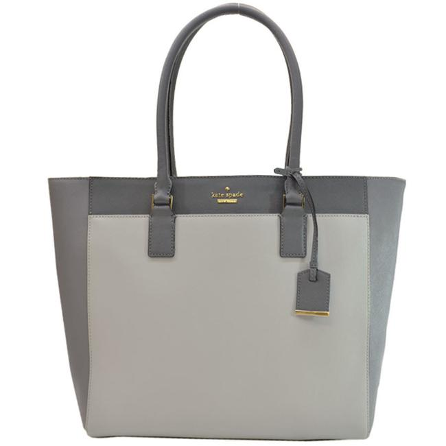 Item - Tote Ladies 51274 Charcoal Gray / Light Gray Leather Shoulder Bag