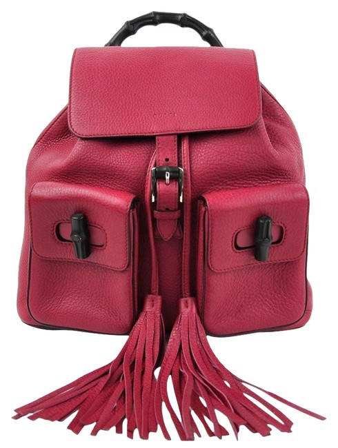 Item - Bamboo Ladies 370833 97814a Pink Leather Backpack