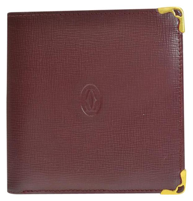 Item - Bordeaux / Gold Mastline Leather Bi-fold Ladies R7748a Wallet