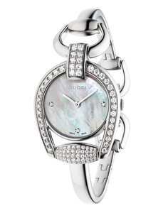 Gucci Stainless Steel Mother of Pearl Diamond Womens YA139505