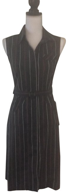 Item - Black with Stripes Sleeveless Mid-length Casual Maxi Dress Size 8 (M)