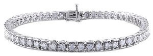 Sterling Silver Diamond Tennis Bracelets 3 Ct Cttw G-h I3 7.25