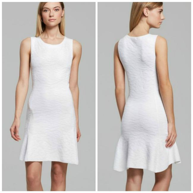 Item - White Jacquard Nikayla Mega Fit & Flare Mini Short Work/Office Dress Size 4 (S)