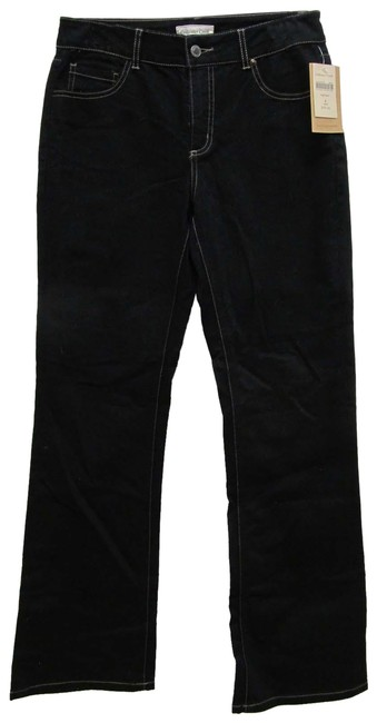 Item - Black Dark Rinse No Style Name Boot Cut Jeans Size 32 (8, M)