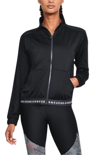 Item - Black Women's Heatgear Full Zip Activewear Outerwear Size 12 (L)