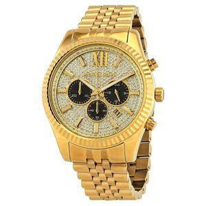 Michael Kors Michael Kors Gold Lexington Chronograph Unisex Wrist Watch Mk8494