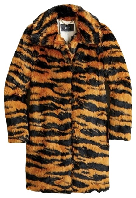 Item - Caramel Black Tiger Faux-fur S. Color: Coat Size 6 (S)