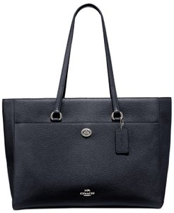 COACH Tote in 78246 Midnight Navy/Silver